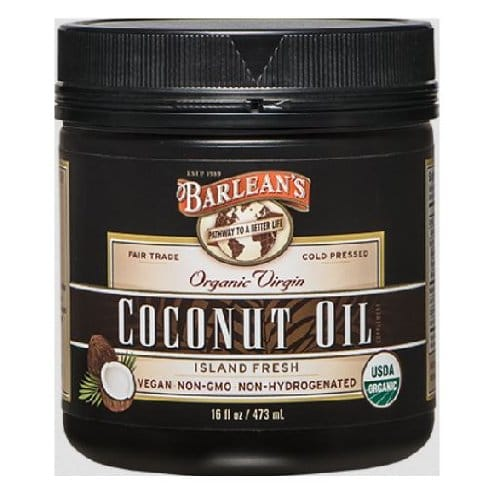 Barleans Coconut Oil Jar