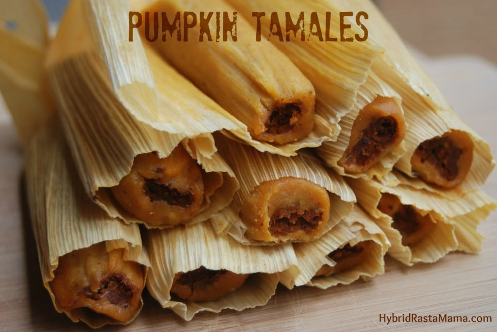 These Pumpkin Tamales are hands down one of the best creations I have ever made. With three cooking options, anyone can make these tamales a success. Brought to you by HybridRastaMama.com