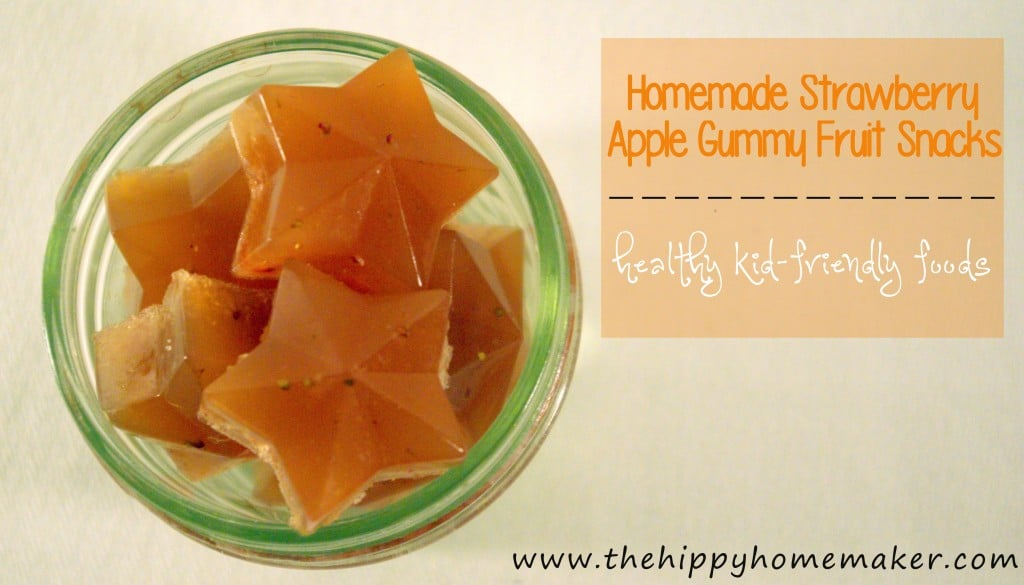 Homemade Strawberry Apple Gummy Fruit Snacks: HybridRastaMama.com