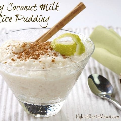 Easy recipes are my jam especially ones that that look like it took hours. This easy coconut milk rice pudding is just that! Easy yet indulgent! From HybridRastaMama.com