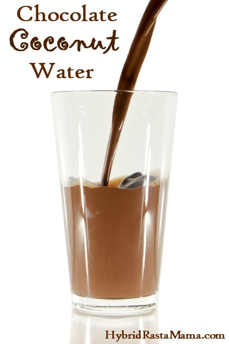 A simple and delicious recipe for chocolate coconut water. Makes a great dehydration aid as well. Created by HybridRastaMama.com