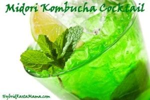 Midori Kombucha Cocktail: HybridRastaMama.com