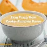 Easy Peasy Slow Cooker Pumpkin Puree