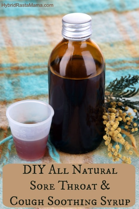 DIY All Natural Sore Throat and Cough Soothing Syrup