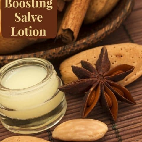 An easy to make, budget friendly immune boosting salve lotion that really works! Kids love it making it something the whole family will benefit from. Brought to you by HybridRastaMama.com