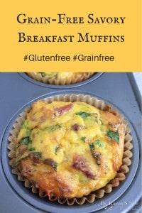 Grain Free Gluten Free Savory Breakfast Muffins by drkarenslee