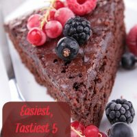 Easiest, Tastiest 5-Ingredient Chocolate Cake!