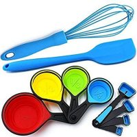 Silicone Whisk, Spatula, and Measuring Set