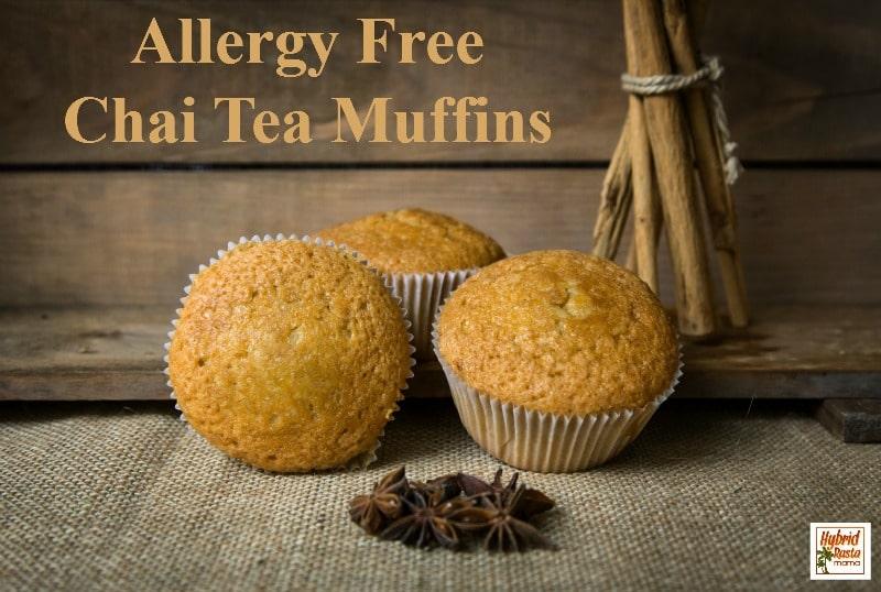 Allergy Free Chai Tea Muffin Recipe fom HybridRastaMama.com