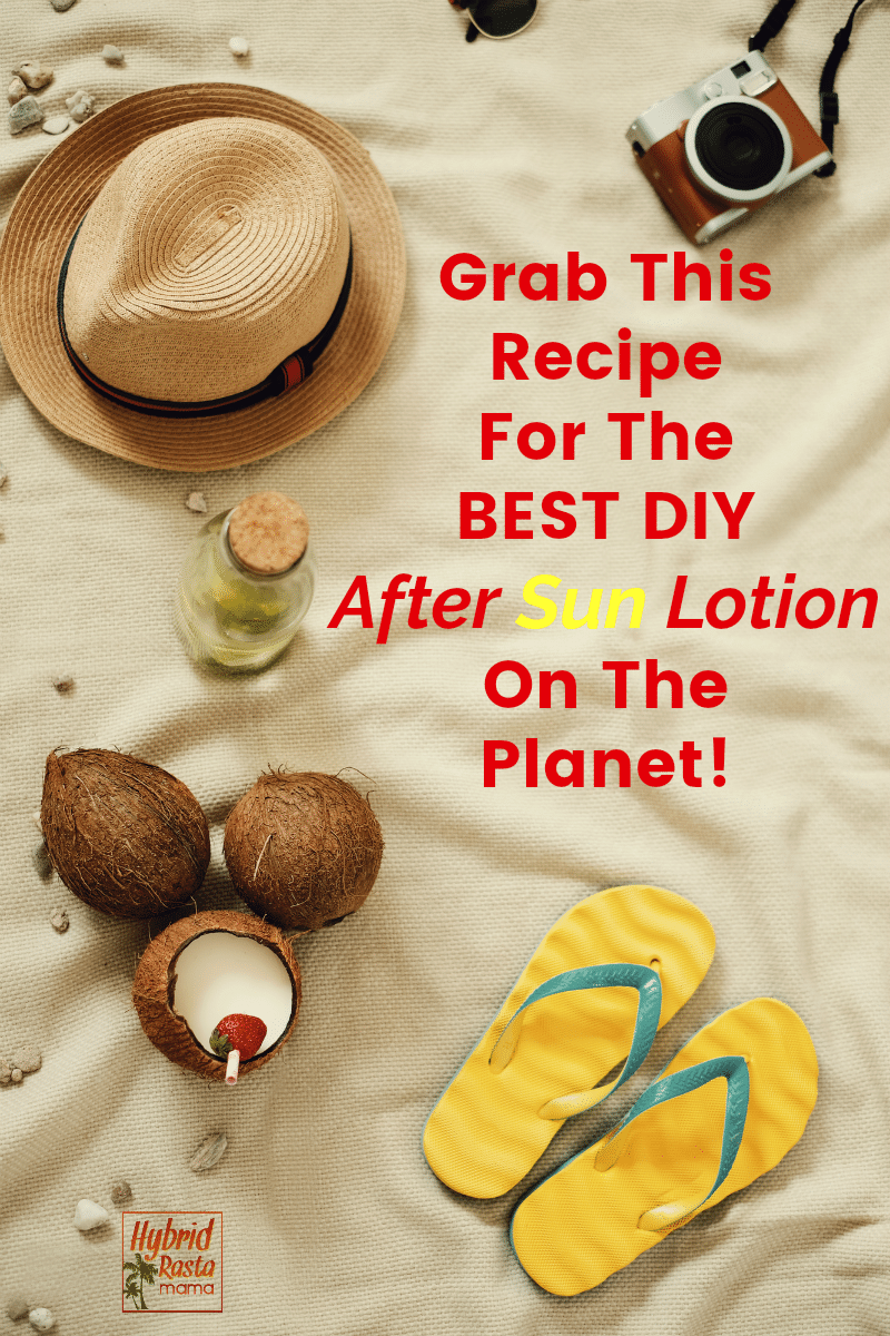 A beach scene promoting the best DIY after sun lotion