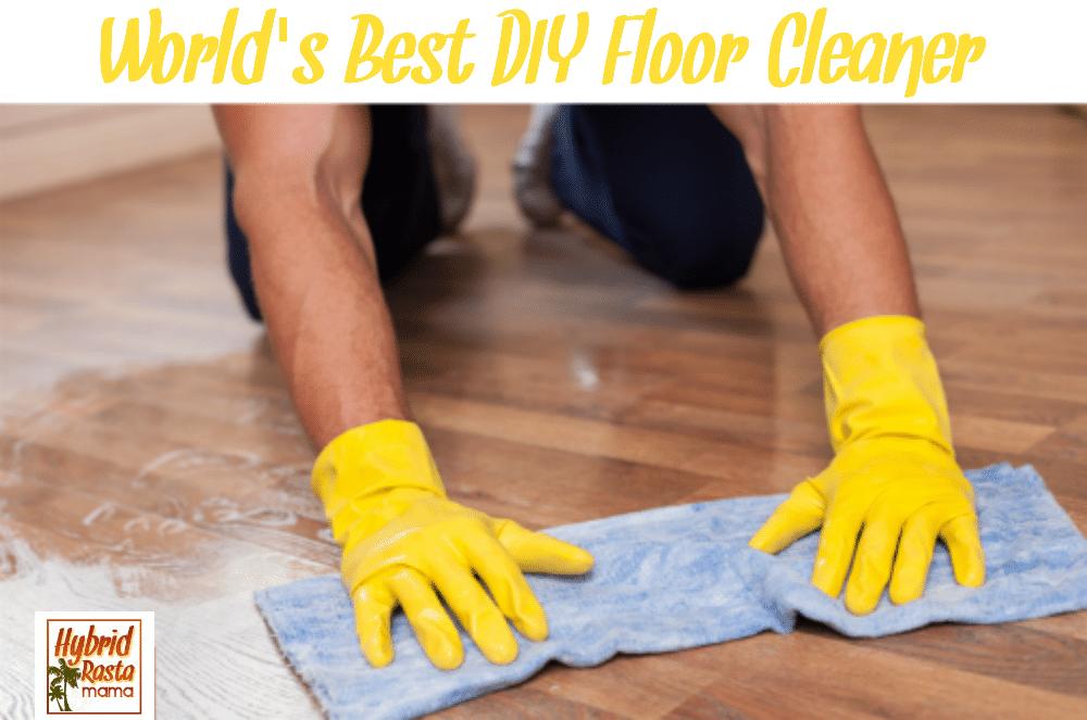 A man using the best DIY floor cleaner