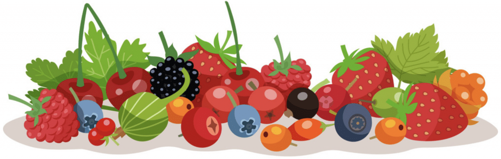 foods good for skin - berry collage