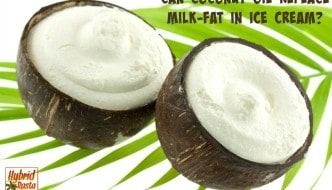 Can Coconut Oil Replace Milk Fat In Ice Cream from HybridRastaMama.com