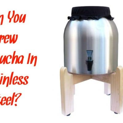 Can You Brew Kombucha In Stainless Steel?