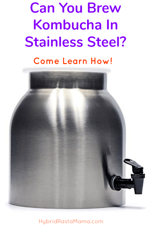 Stainless steel kombucha crock