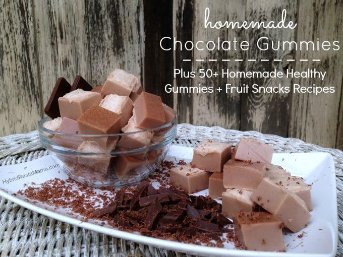 Rich Chocolate Gummies + Over 50 Homemade Healthy Gummies & Fruit Snacks Recipes from HybridRastaMama.com