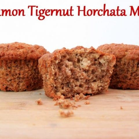 These nourishing, yet simple Cinnamon Tigernut Horchata Muffins muffins will delight taste buds of all types. Allergen free and still delicious, your entire family will be begging for more! Brought to you by HybridRastaMama.com