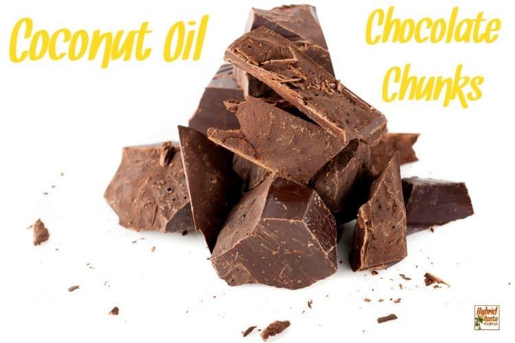 Coconut Oil Chocolate Chunks