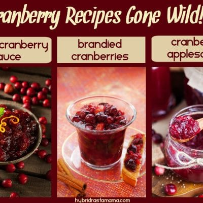 The Best Cranberry Sauce, Brandied Cranberries & Cranberry Applesauce