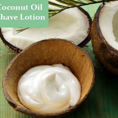 DIY Pre-Shave Oil + Coconut Oil Aftershave Lotion