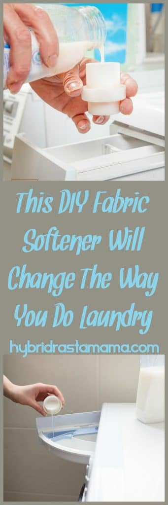 Have hard water? Is is killing your laundry? Try this DIY fabric softener to solve all your laundry woes. It is so simple to make and only costs pennies. From HybridRastaMama.com