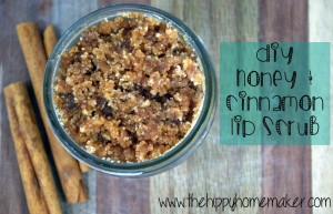 Looking for an easy to make lip scrub with ingredients you likely already have? Try this fabulous DIY honey and cinnamon lip scrub. It is delicious! From HybridRastaMama.com.