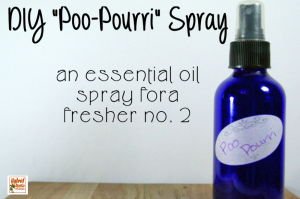A bottle of DIY poo Pourri spray
