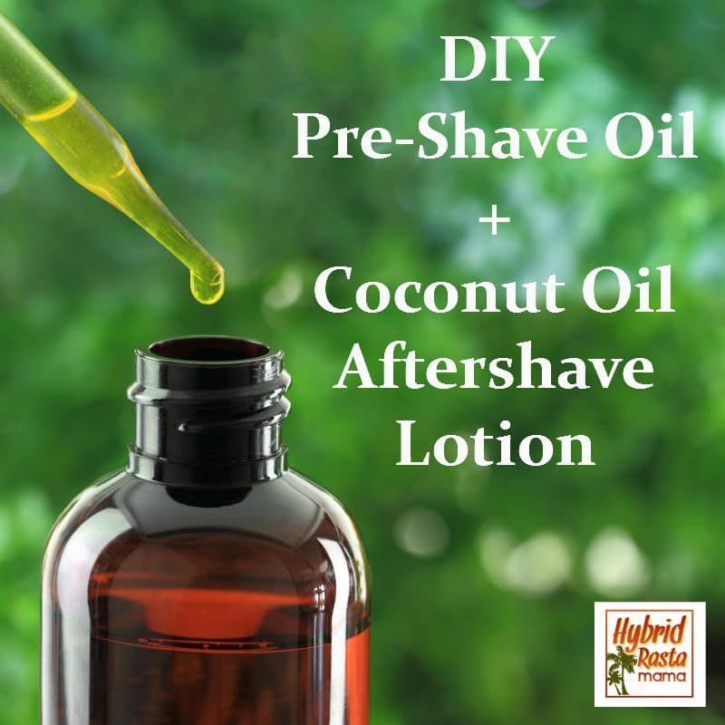 Homemade pre shave oil