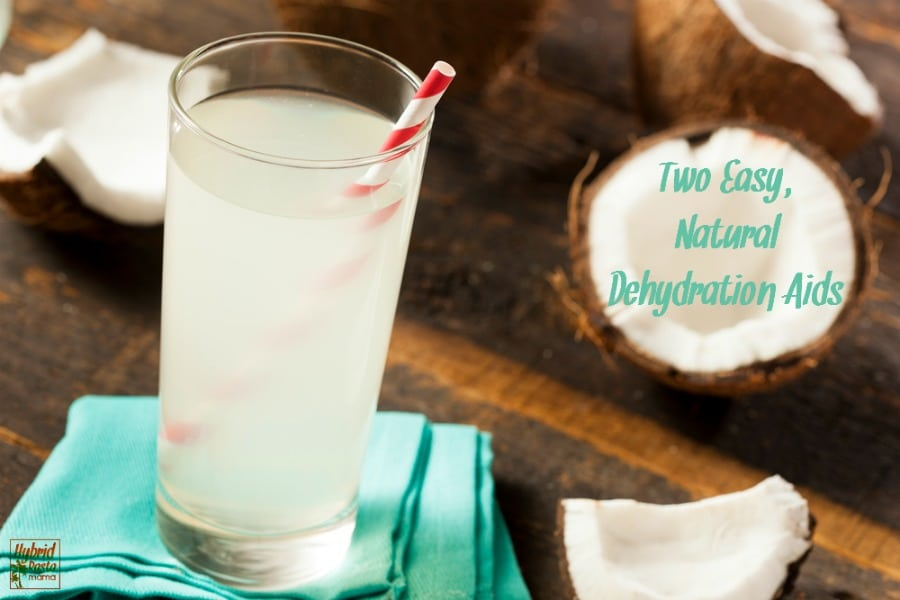 Learn how easy it is to combat dehydration with these two easy, natural dehydration aids. They take seconds to make and will replenish you in record time. From HybridRastaMama.com