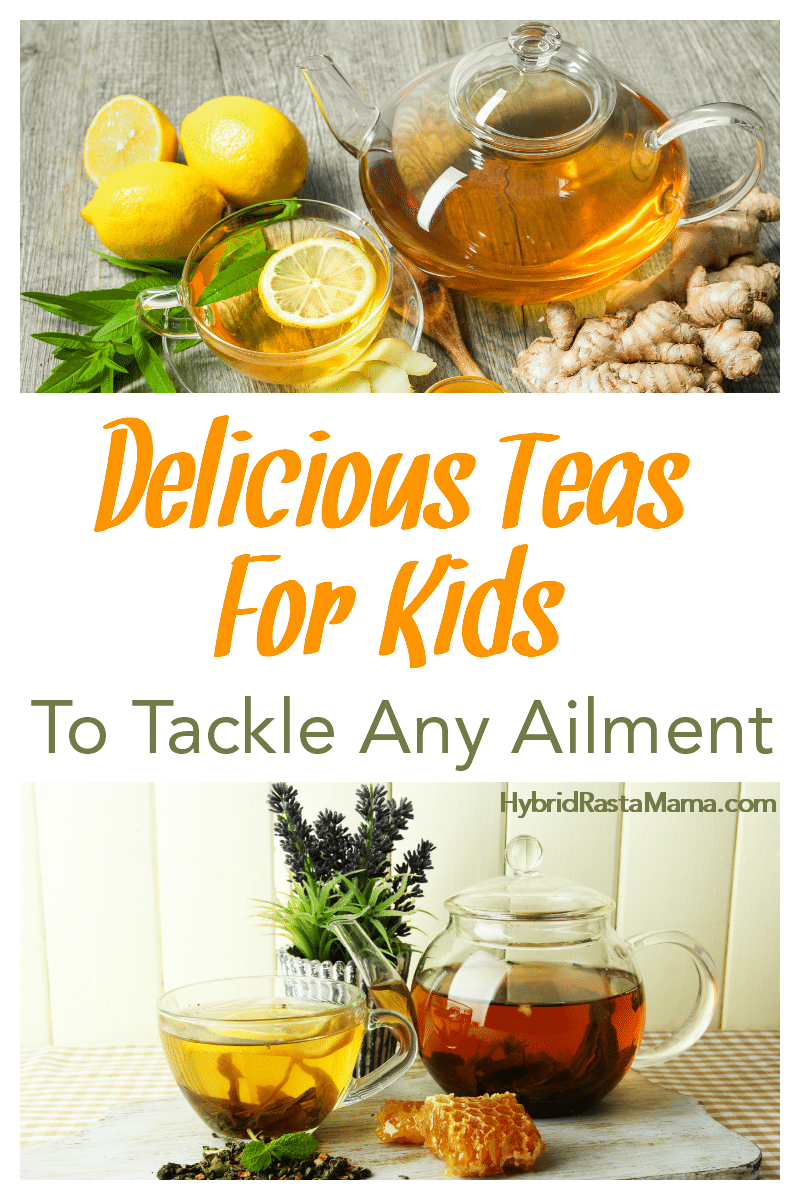 An assortment of delicious teas for kids