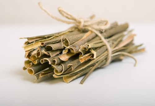 White willow bark in a bundle - an herb for back relief