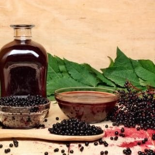My two favorite natural remedied for cold and flu season! Grab the recipes for nourishing bone broth and germ fighting elderberry syrup. From HybridRastaMama.com