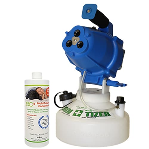 EC3 Mold Solution Concentrate and Cold Fogger used for monthly mold prevention and mycotoxins removal.