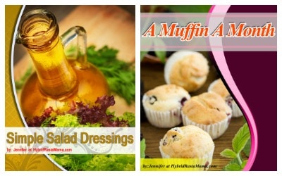 Book covers for Simple Salad Dressings and A Muffin A Month