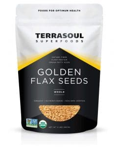Terrasoul golden flax seeds to use as an egg replacer.