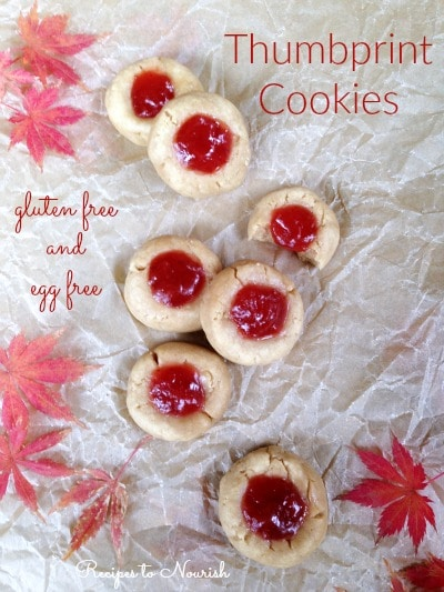 Gluten Free Thumbprint Cookies by Hybrid Rasta Mama