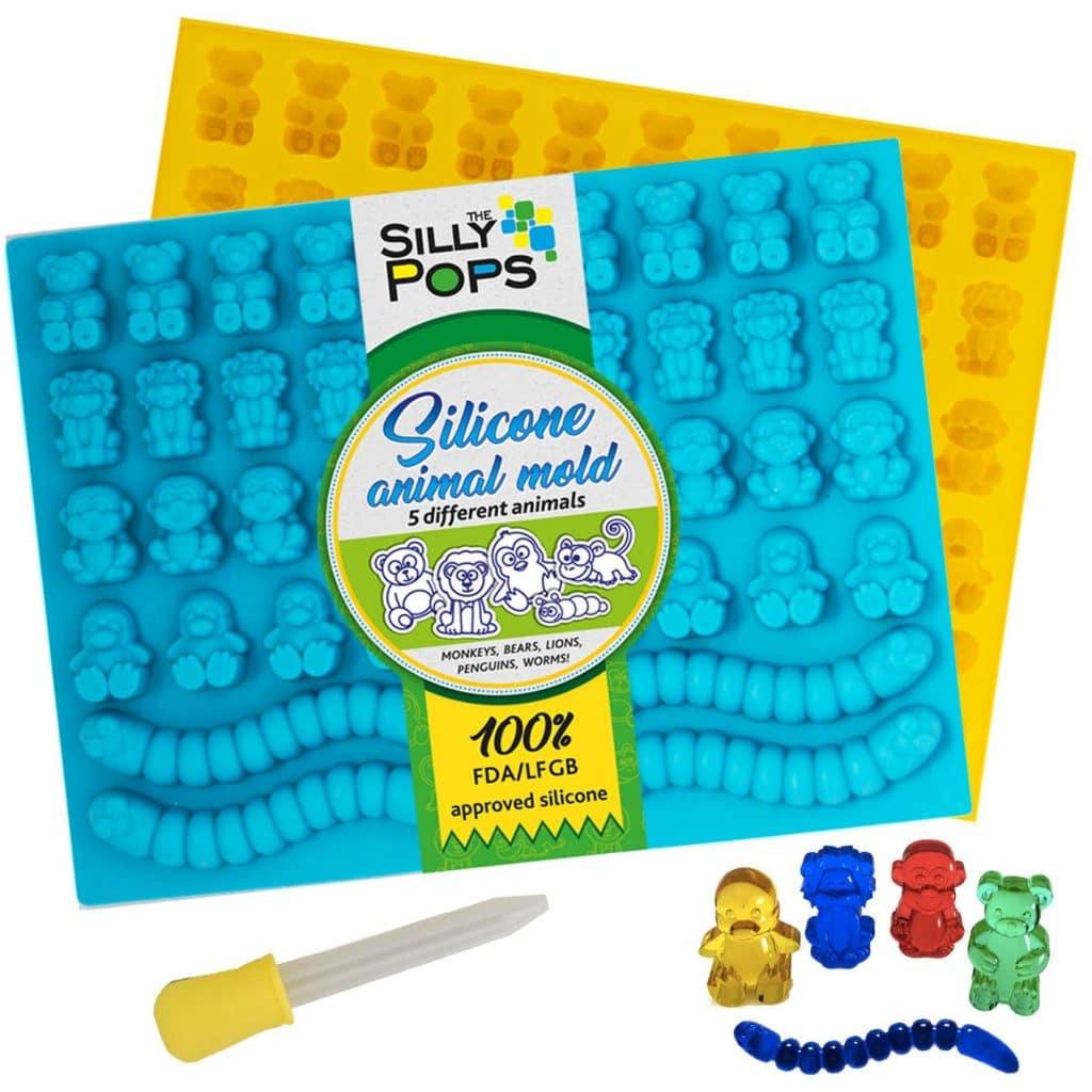 Silly pops CBD oil gummy molds
