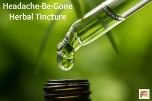 Headache-Be-Gone Herbal Tincture from HybridRastaMama.com
