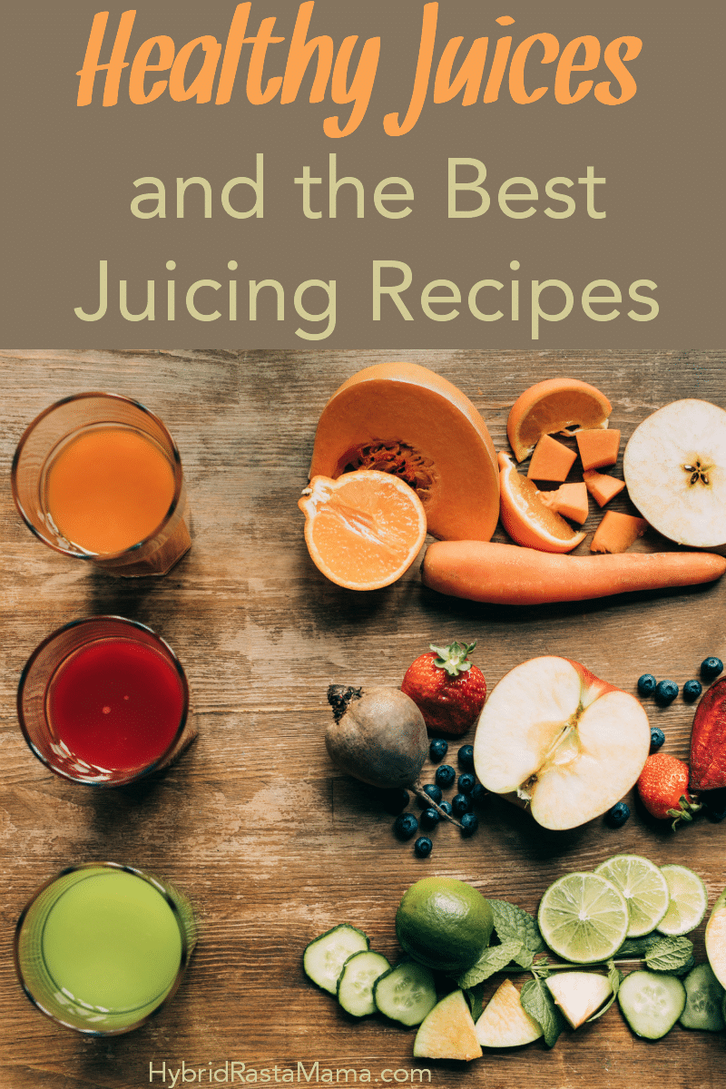 Healthy juices in clear glasses