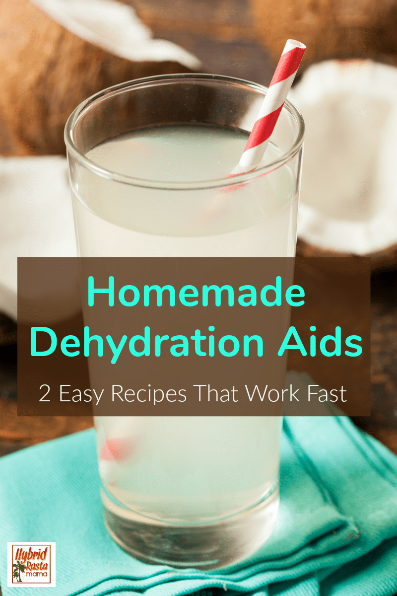 A glass of freshly poured homemade dehydration aids.