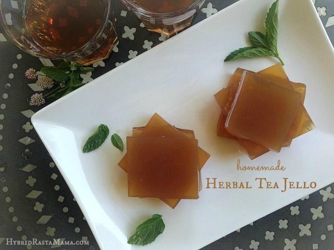 Homemade Herbal Tea Jello