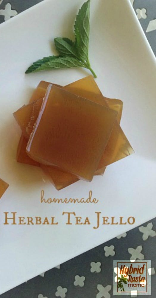 Jello is a fun treat for kids & adults. It is easy to make but the store varieties are junk. Try your hand at this herbal tea jello. Easy & good for you! From HybridRastaMama.com.
