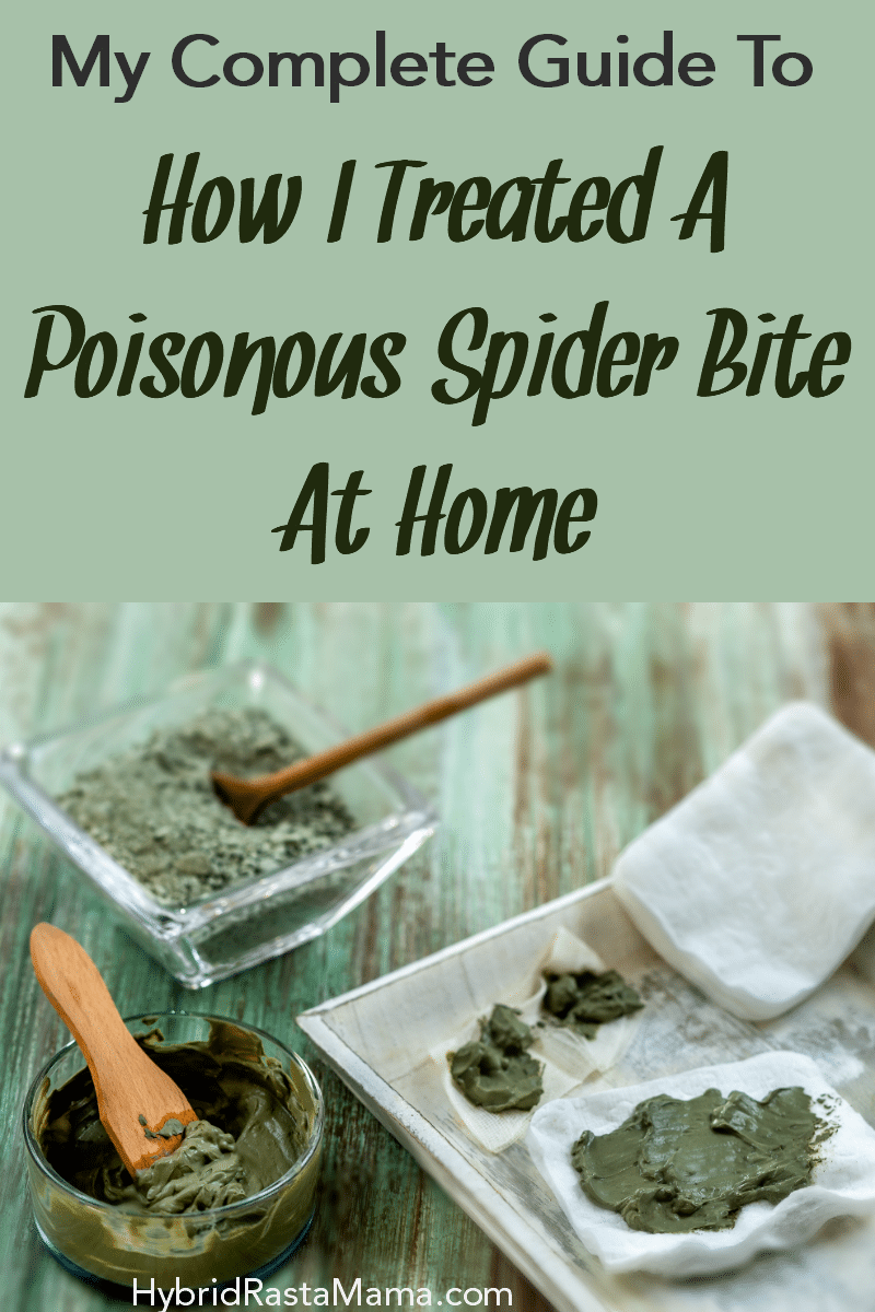 A bowl of clay, a wooden spoon, and a clay pack on a wooden background. These items are for a spider bite remedy.