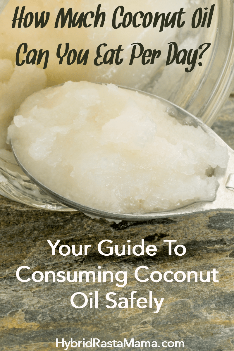 A spoonful of coconut oil against a granite countertop