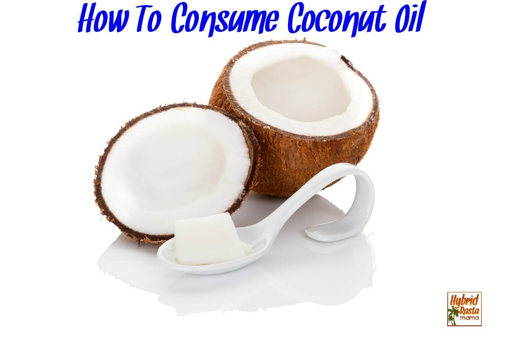 Coconut oil and coconut oil on a spoon isolated on white background.