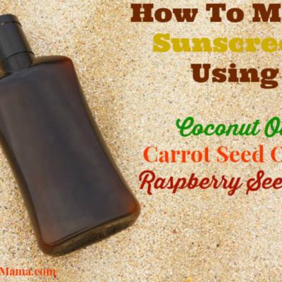 Easy Natural Homemade Sunscreen Recipe