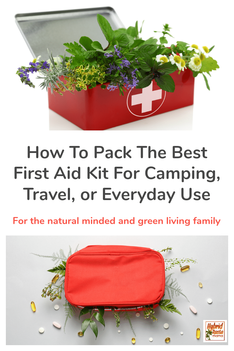 A natural DIY first aid kit filled with supplies