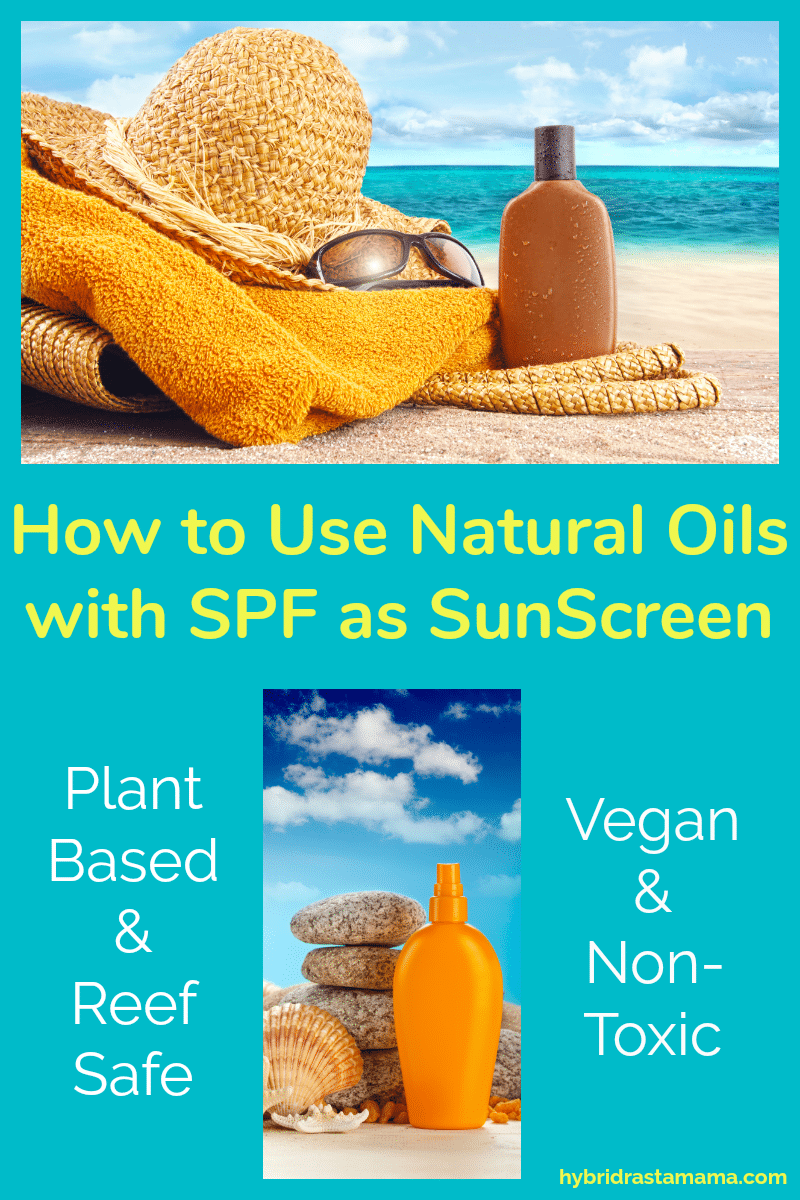 A bottle of sunscreen on the beach with natural oils with SPF.