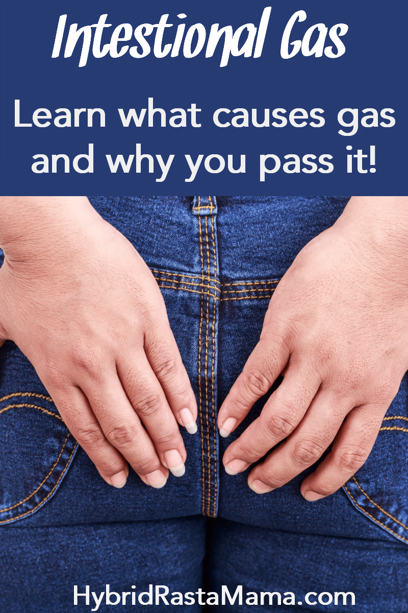 Two hands covering their butt (which has on a pair of blue jeans). The idea is that the person is holding intestinal gas in.