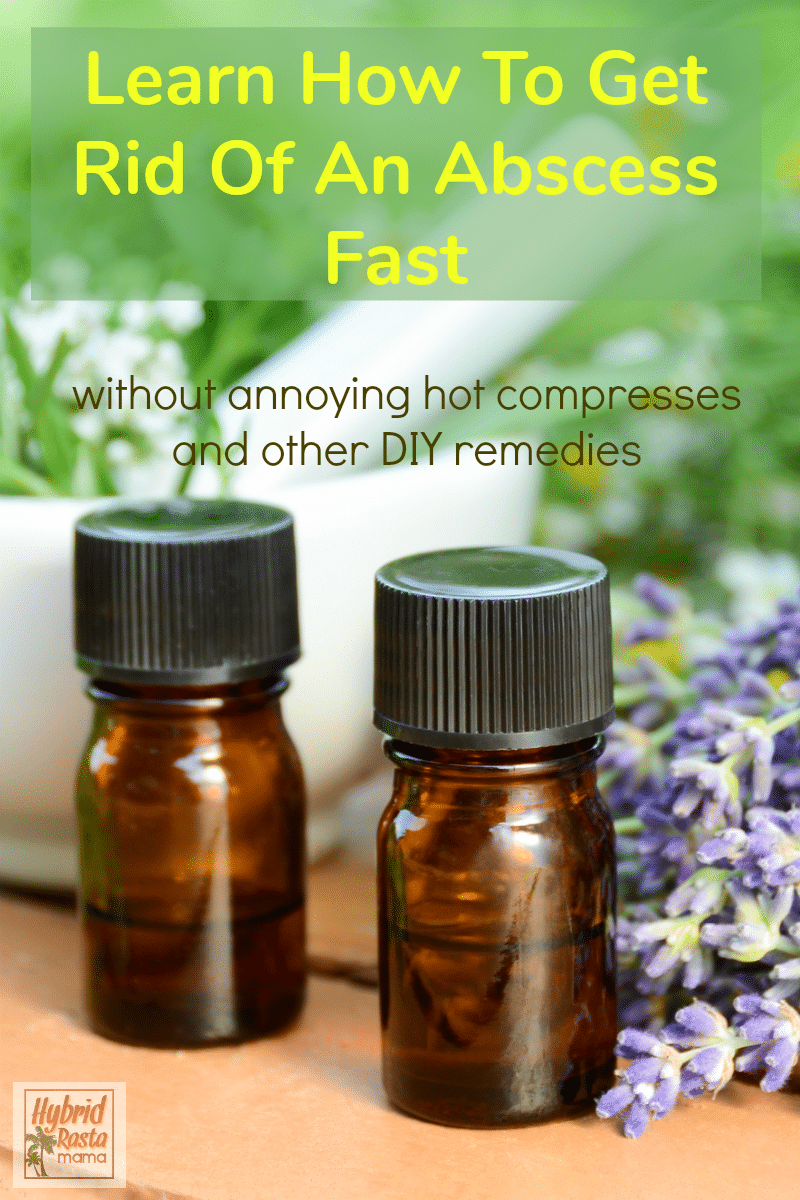 Two bottles of essentials oils that can help get rid of an abscess fast